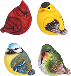 New Creative for The Birds Portly Statue, 4 Piece Set