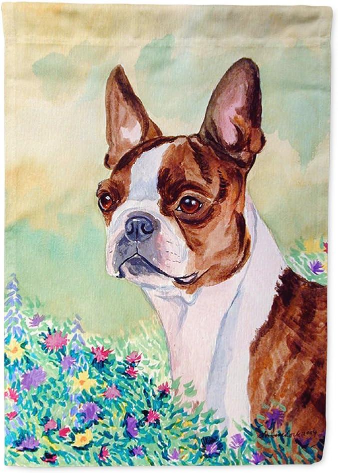 Caroline's Treasures 7222GF Red and White Boston Terrier Flag Garden Size, Small, Multicolor