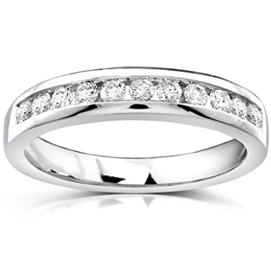 Delicieux Diamond Wedding Band 1/3 Carat (ctw) In 14k White Gold, Size