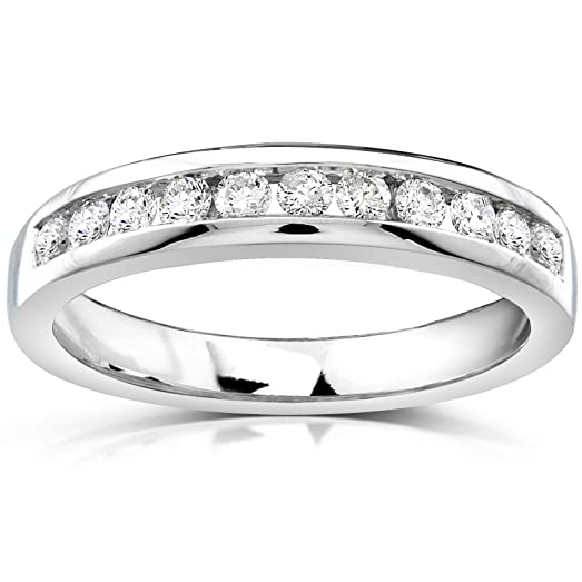 Diamond Wedding Band 1 3 Carat Ctw In 14k White Gold