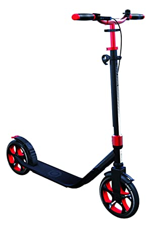 Globber One NL 205 Deluxe Scooter-Titanium and Ruby Red ...