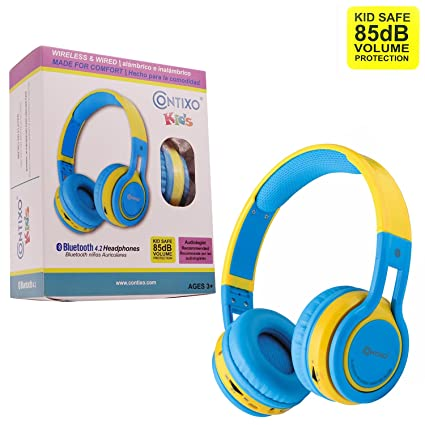 Amazon.com: Contixo kb2600 Kid Safe 85dB plegable auricular ...