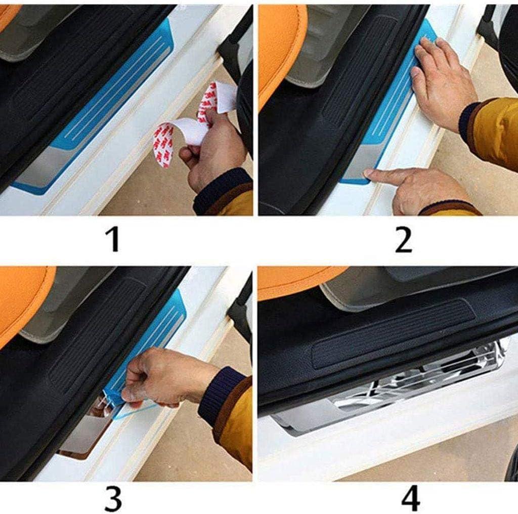 YCGLX 4Pcs pour Volkswagen VW Tiguan 2018 2019 2020 Voiture Seuil Porte Acier Inoxydable Car Protection Barres P/édale Autocollant Styling Accessoire