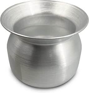 Sticky Rice Aluminum Cook Pot from Thailand - Genuine Replacement Pot for Traditional Steamer Crock, Family Size 8.67 Inch Standard Diameter (22 cm)