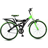 Hero Ranger DTB Steel Single Speed Mountain Bike, Adult 26T (Black/Green)