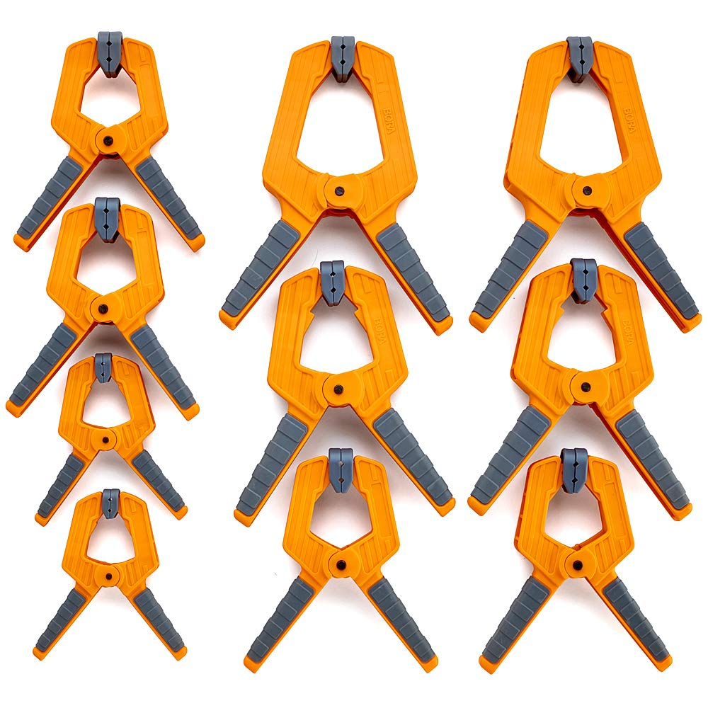 Bora 10Piece Spring Clamp Set for Gluing, Sanding, Finishing Projects 570610 by Bora