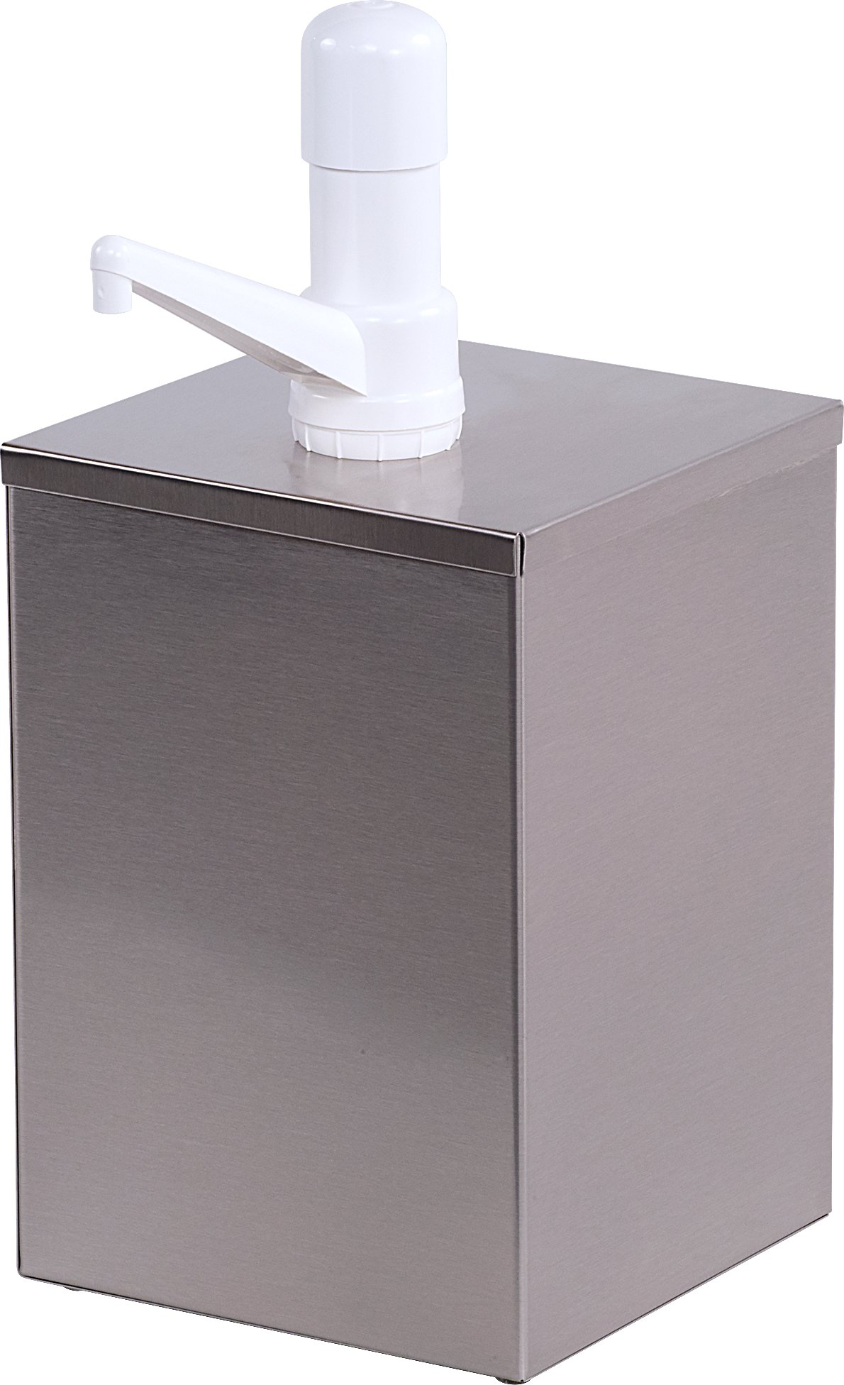 Carlisle 38601 7-1/4-Inch Stainless Steel High Volume Condiment Dispenser with Fixed Nozzle Pump by Carlisle