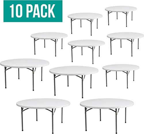 EventStable TitanPRO Plastic Folding Table – 60 Round – 10 Pack