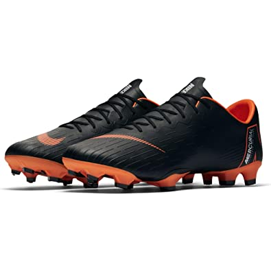 8aae254ec57 Nike Men s Mercurial Vapor XII PRO FG Cleats - (Black White Orange)