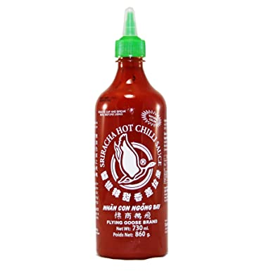Flying Goose, Salsa de chile (Sriracha, picante) - 2 de 730 ml