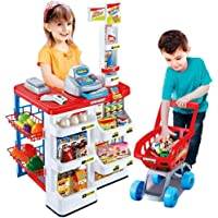 TWISHA ENTERPRISE Kids Role Pretend Playset Big Size Supermarket kit for Kids Toys with Shopping Cart and Sound Effects Kitchen Set Kids Toys for Boys and Girls for Birthday Gift