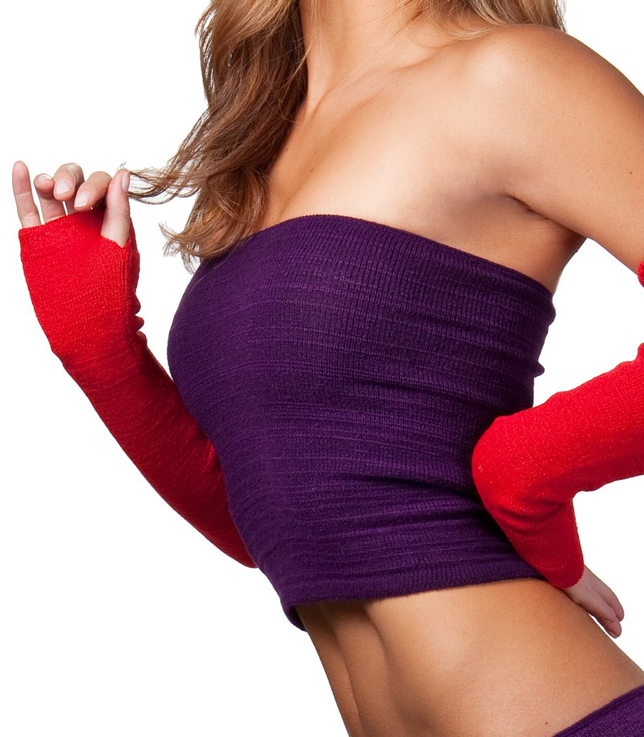 Black Arm Warmers by KD dance Warm Cozy Stretch Knit Thumb Hole Made In USA by KD dance New York (Image #5)