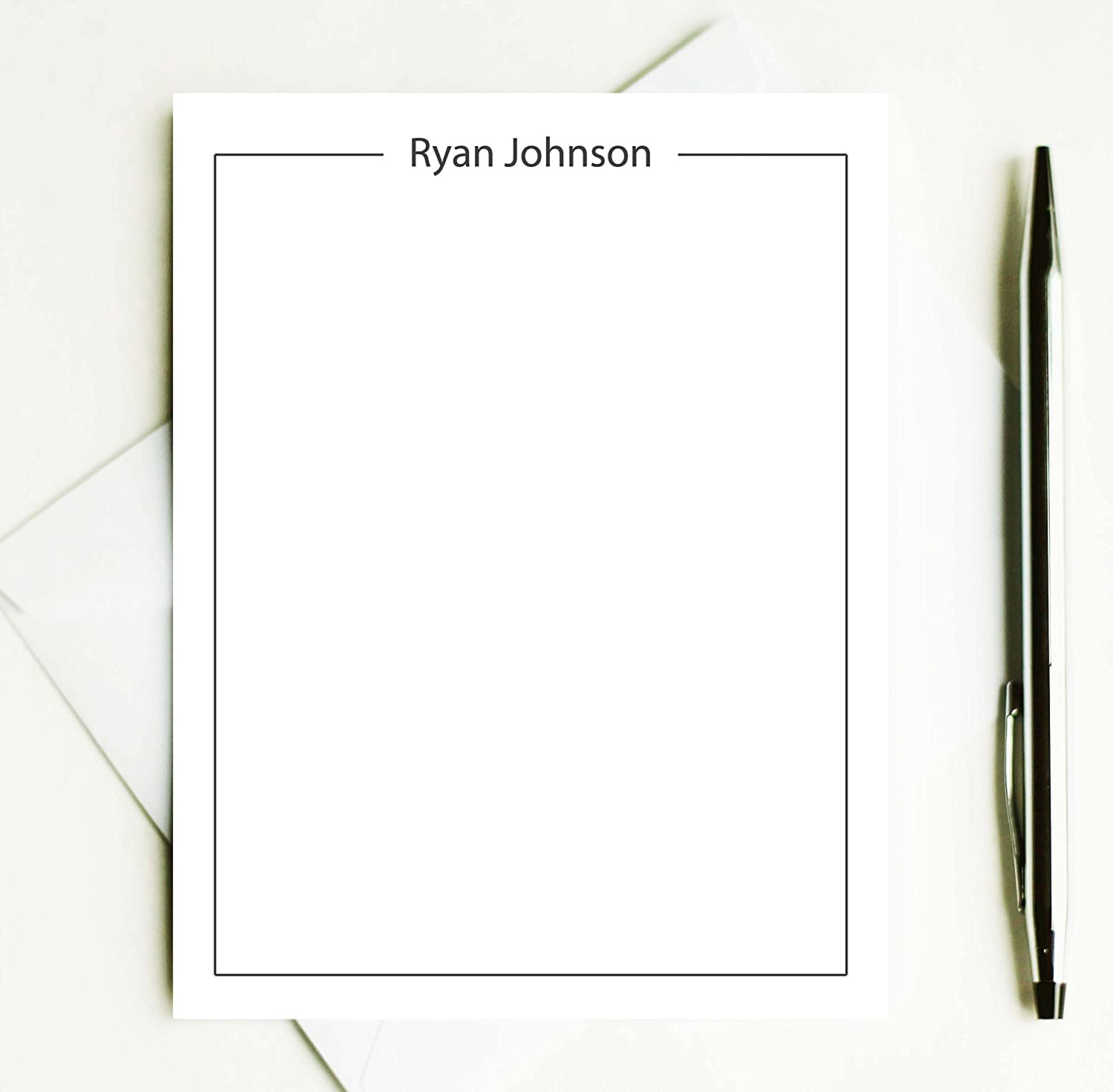 Amazon Personalized Stationary Set Personalized Note Cards