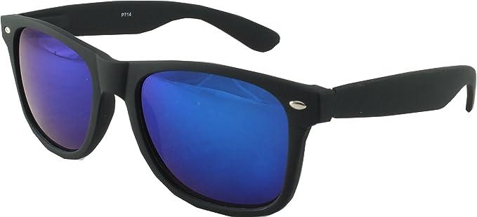 Amazon.com: Revive Eyewear de los hombres Wayfarer Espejo ...
