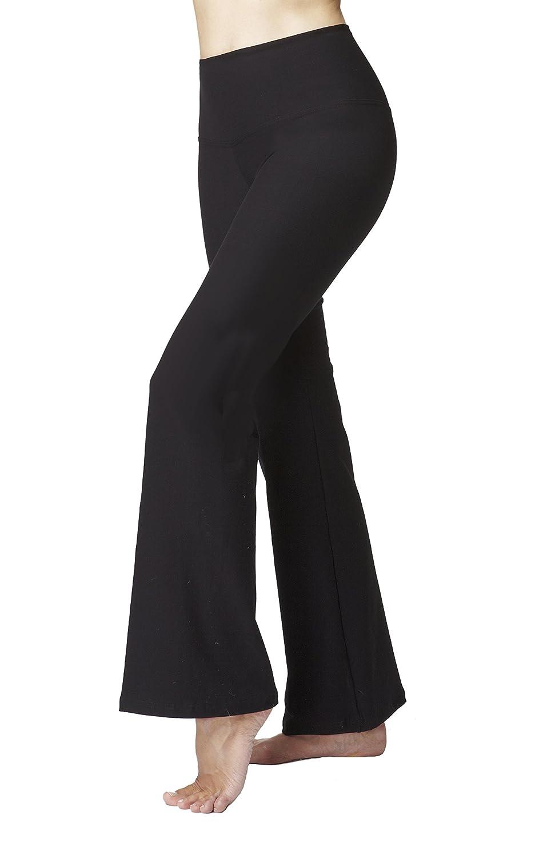 Tummy Control Slimming Shaping Standard Waist Yoga Bootcut Bootleg Pants Black XTCSLBLKLRG-$P
