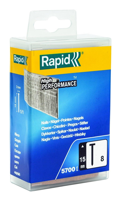 Rapid Pointes N/°8 Fil galvanis/é 15mm de longueur 5000520 Haute performance 5700 pi/èces