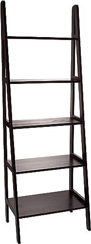 Casual Home 5-Shelf Ladder Bookcase, Espresso