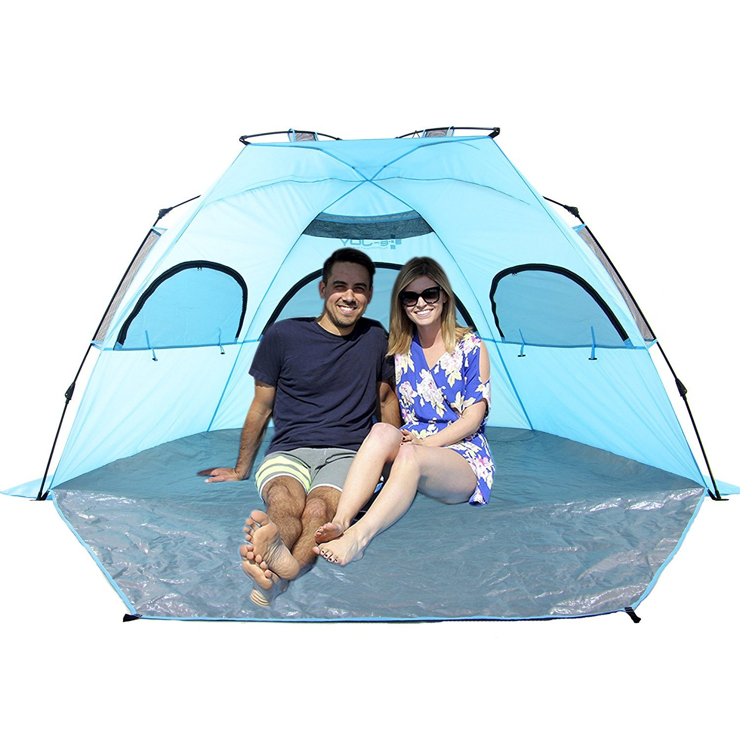 e-JoyOutdoor Deluxe Beach Tent, Quick Portable, UV Sun Sport Shelter, Cabana Instant Easy Up Beach Umbrella Tent, X-Large   B079SB9SSB
