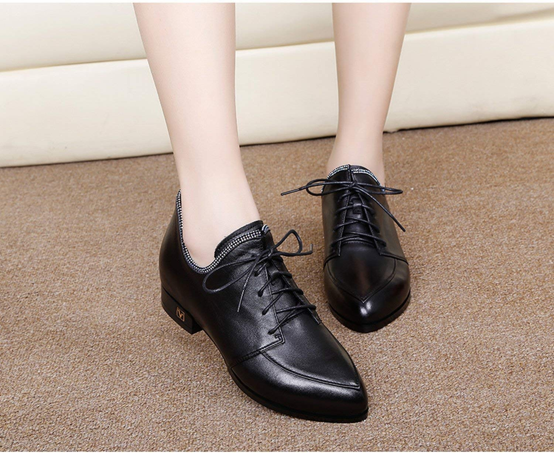Fuxitoggo Schuhe einfachen einfachen einfachen mit der Spitze mit Mund grob und Tiefe der ersten Klasse-Schuhe Leder (Farbe   Schwarz Größe   37) 8bf131