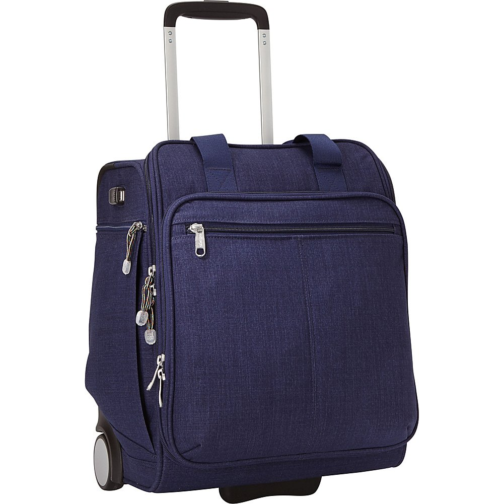eBags Kalya Underseat Carry-on 2.0 with USB Port (Brushed Indigo) by eBags