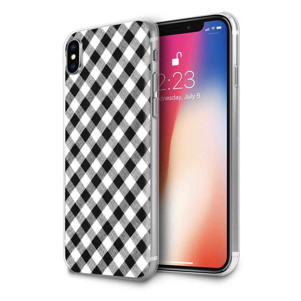 the latest 8d5bc 1834d Amazon.com: HelloGiftify iPhone Xs Max Case, Black and White Plaid ...