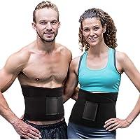 Cinturón Ajustable Entrenador Cintura Mujeres para Pérdida Peso, Faja Deportiva de Sudoración para Abdomen y Cintura para hombres y mujeres, Ideal para Gym,Quemado calorías,Ejercicio y Entrenamiento Cardio