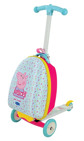 Peppa Pig Scootcase 3-in-1 Scooter With Luggage Suitcase MV Sports Ages 3 Years+