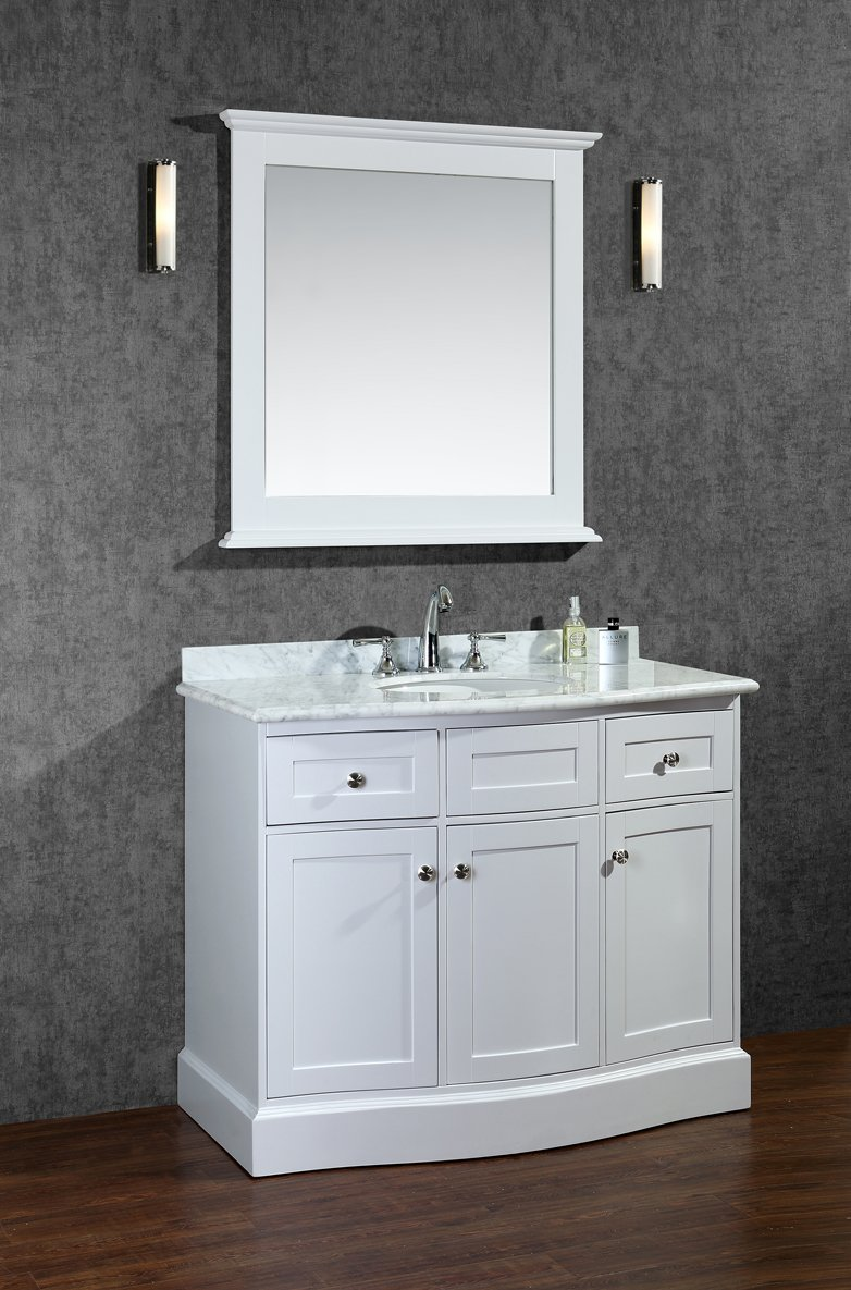 Amazon.com: Ariel SC MON 42 SWH Montauk 42 Single Sink Bathroom Vanity Set  With Quartz Top And Simple Pulls In: Kitchen U0026 Dining