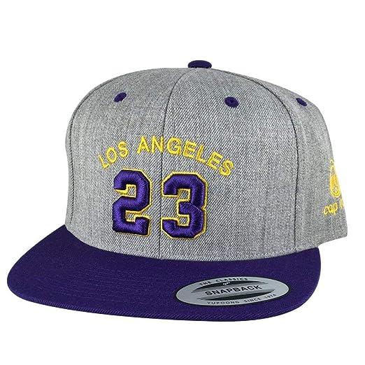 Los Angeles Player  23 Heather Custom Embroidered Baseball Hat Snapback Cap  - Heather Grey  4408d6af2432