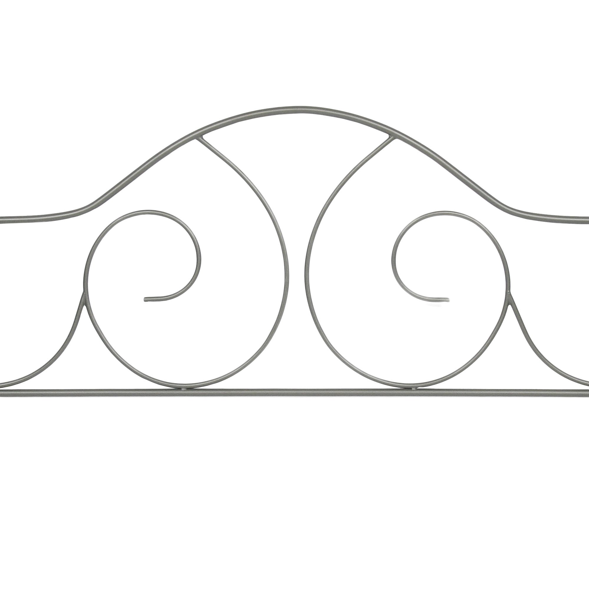 Caroline Complete Metal Daybed with Link Spring and Trundle Bed Pop-Up Frame, Flint Finish, Twin by Adjustables by Leggett & Platt (Image #3)