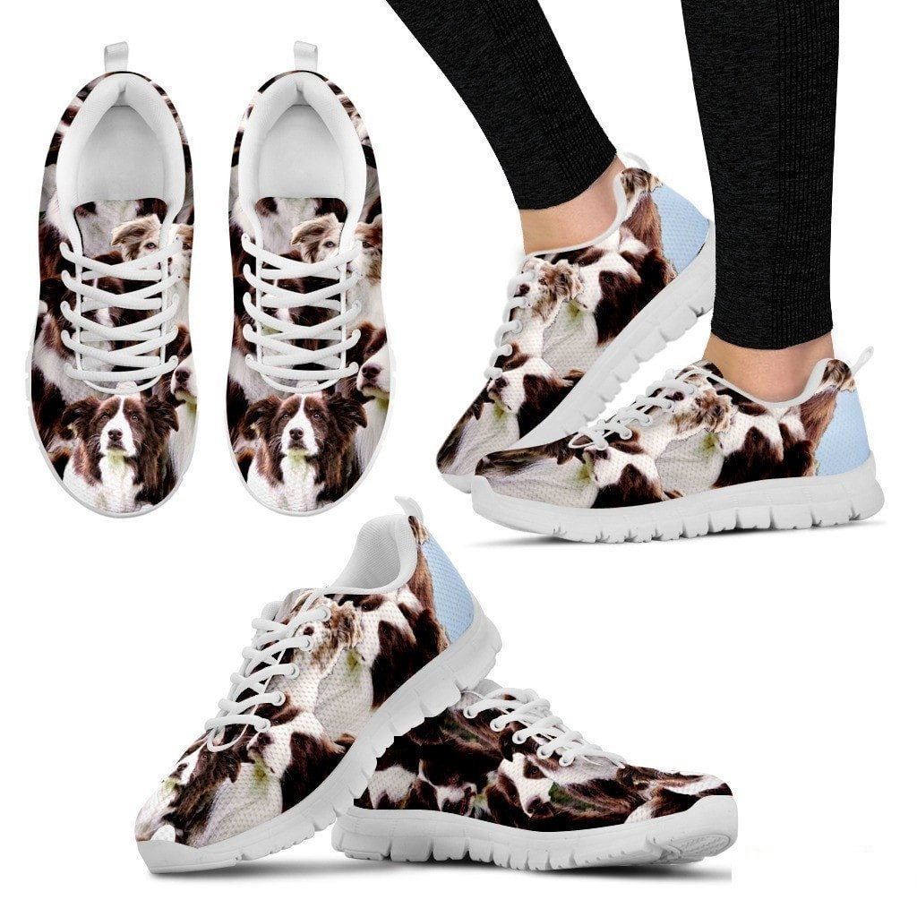 Casual Comfortable Sneakers Running Shoes Pawlion English Shepherd in Lots Print Running Shoe for Women