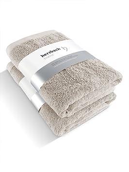 Herzbach Home - Juego de baño, calidad premium, toalla de ducha (