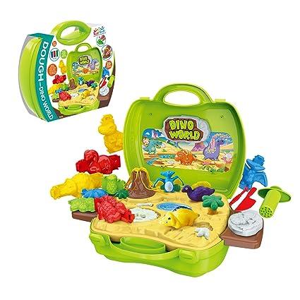 Amazon.com: Juego de juguetes de dinosaurio de arcilla, 26 ...