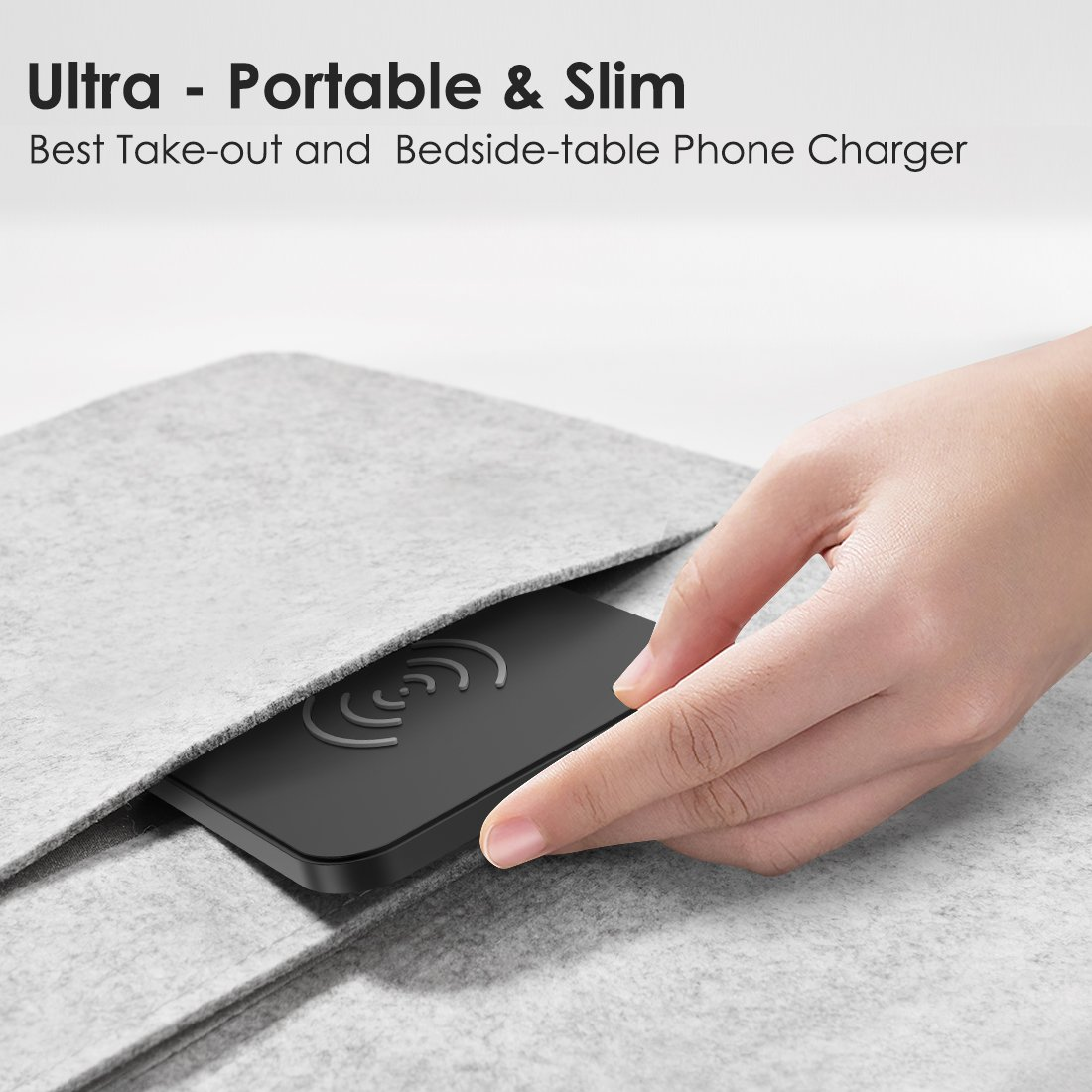 CHOETECH 10W Fast Wireless Charger Compatible Samsung Galaxy S9, S9 S8 Plus,Note 8, S8, S7, S7 Edge, Standard Wireless Charging Pad Compatible iPhone X, 8, 8 Plus (No AC Adapter) by CHOETECH (Image #6)