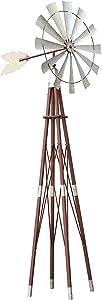 Alpine Corporation JUM264 Garden Metal Kinetic Windmill, 101 Inch Tall, Multi-Color