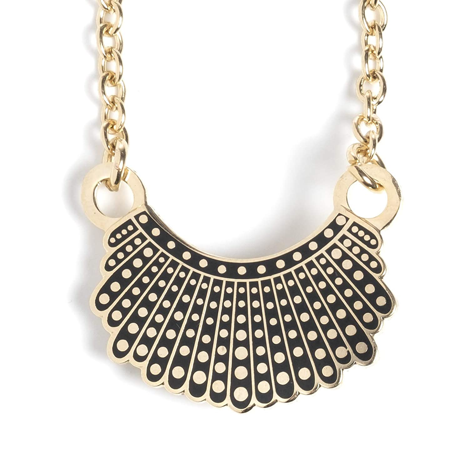 2de448024 Amazon.com: Dissent Collar Necklace - 24k Gold Plated: Clothing