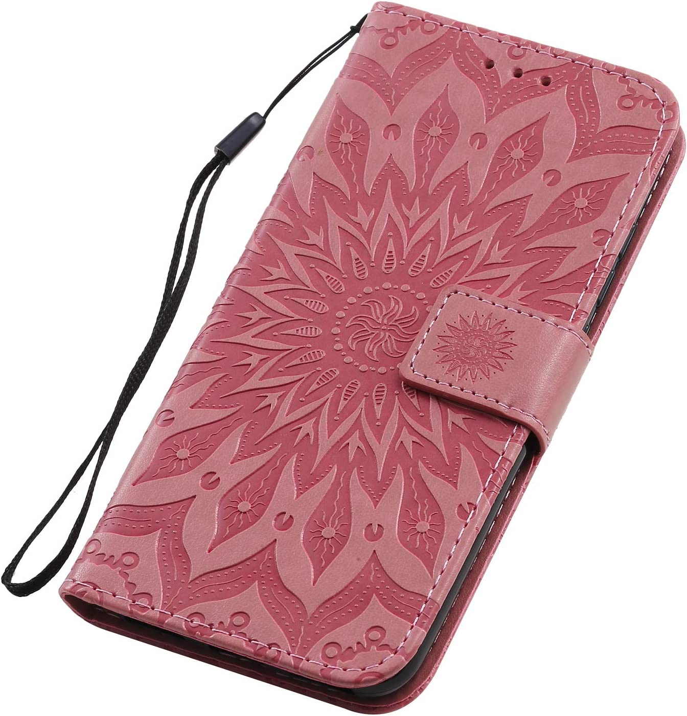 NEKTU020500 Hot Pink Shockproof Leather Flip Cover Case for Xiaomi MiA3 NEXCURIO Wallet Case for Xiaomi Mi A3 with Card Holder Side Pocket Kickstand
