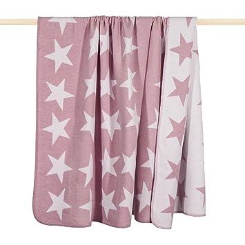Decke Stars.Pad Decke Kuscheldecke Wendedecke Stars Pink Rosa 150