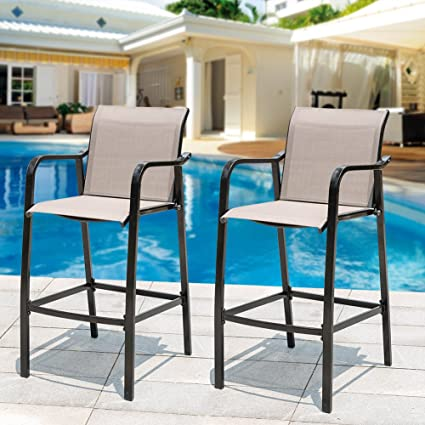 amazon com sundale outdoor counter height bar stool all weather