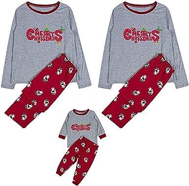 Conjunto de pijama de Navidad con texto en inglés