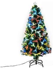 00f20613705b9 HOMCOM Árbol de Navidad 120cm Artificial Árboles con 130 Luces LED 7 Colores  y Estrella Decorativa