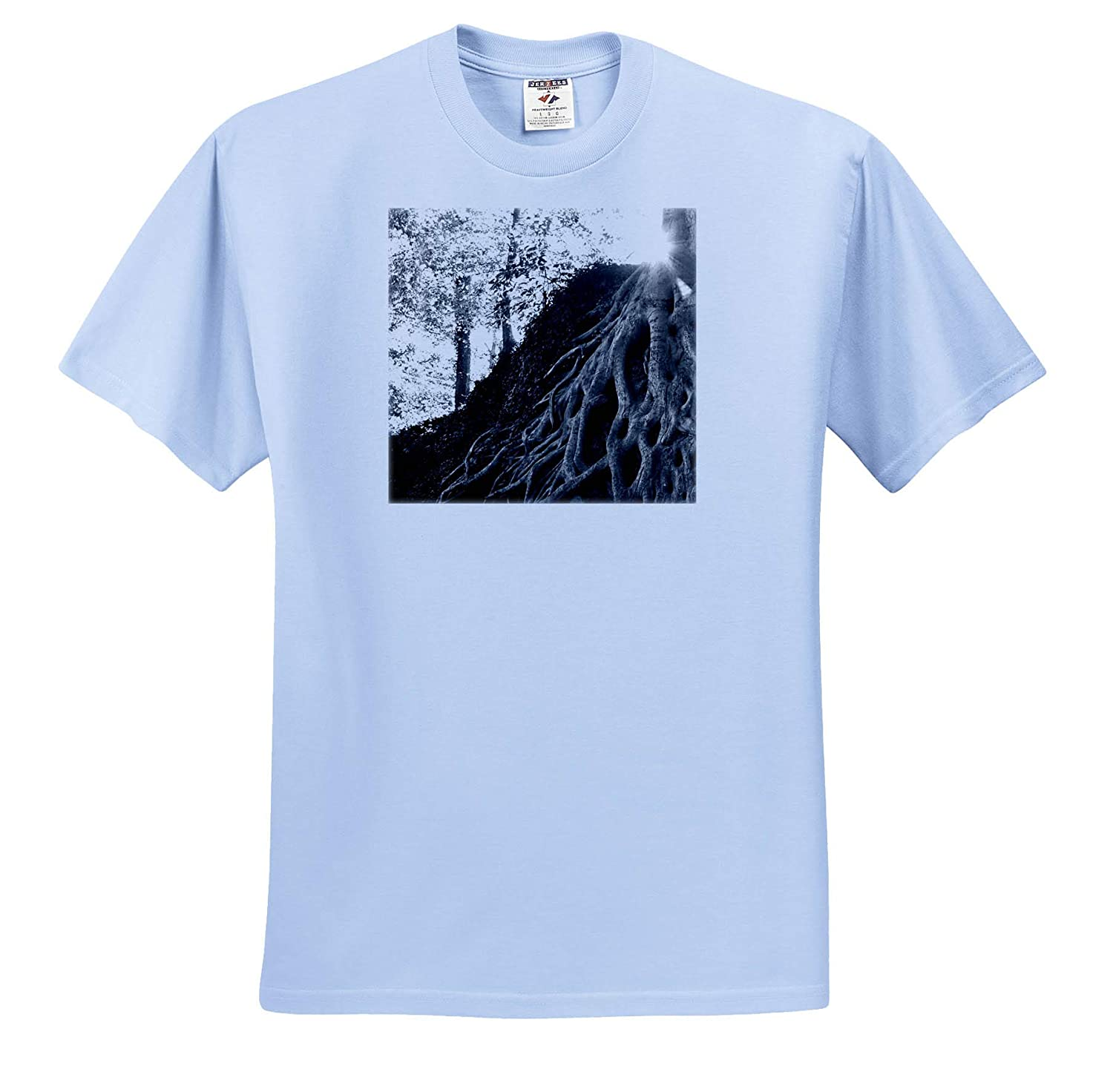 Black and White Photograph of The Medusa Tree in Downtown Greenville 3dRose Stamp City Nature - T-Shirts
