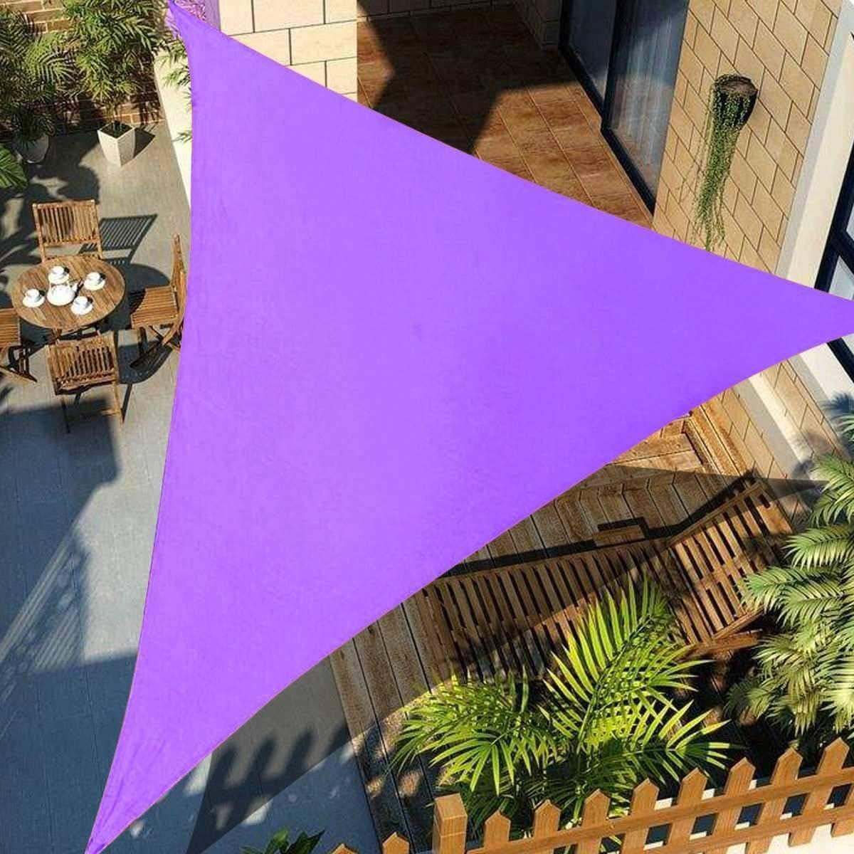 ZHANGDAN Sun Shade Sail Triangle, terraza del Patio Pergola al Aire Libre Sun Sail Shade Bloque UV Sombrilla Color Arena, Opcional, Purple-M(4m): Amazon.es: Jardín