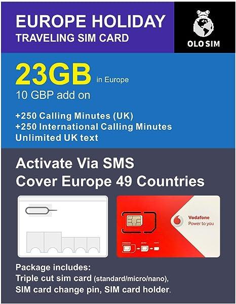Amazon.com: OLOSim Europe - Tarjeta SIM de viaje (30 días ...