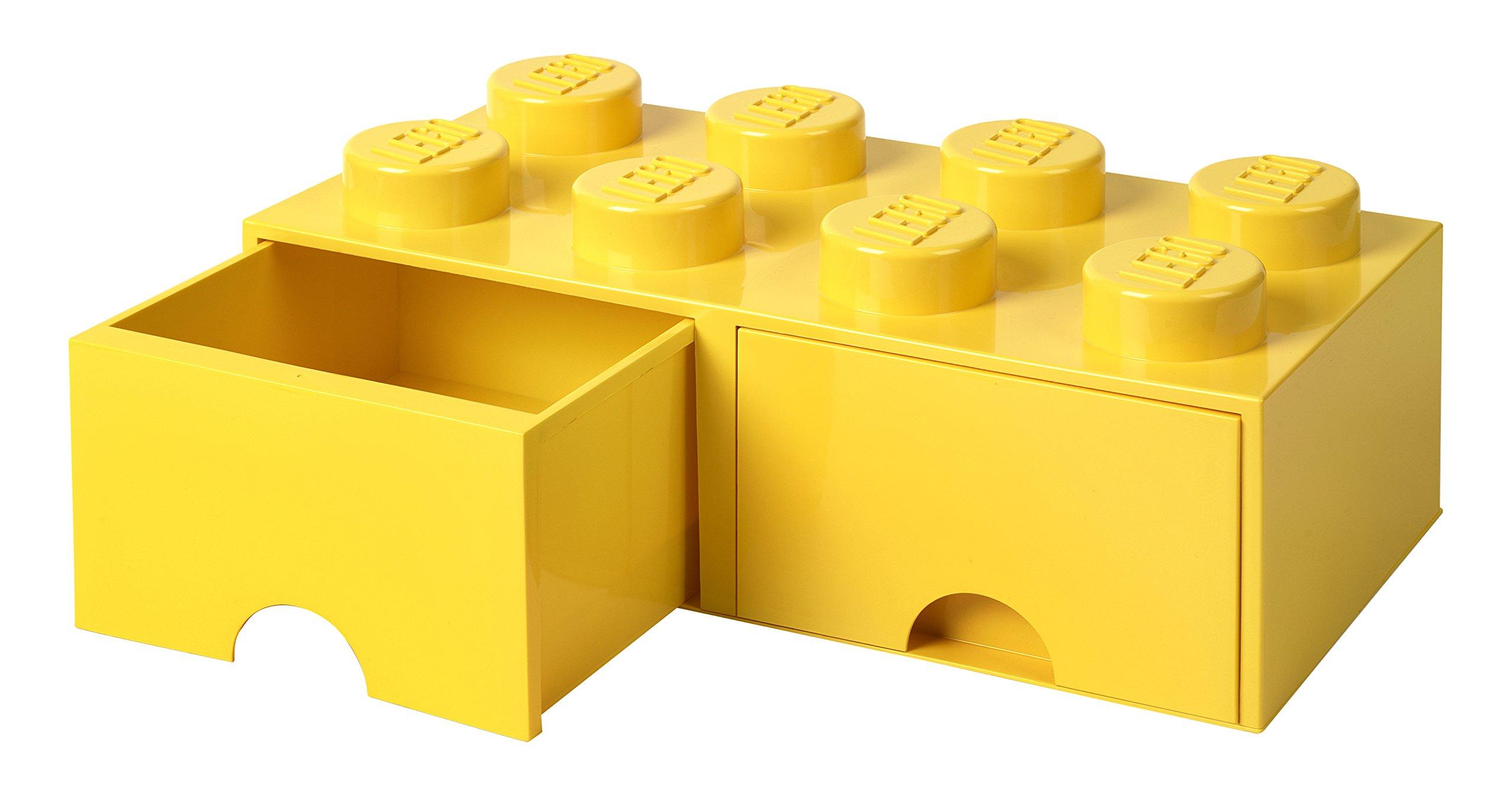 LEGO Brick Drawer 8 Knobs 2 Drawers Stackable Storage Box 9.4 L  sc 1 st  Amazon UK & LEGO Storage Drawers: Amazon.co.uk