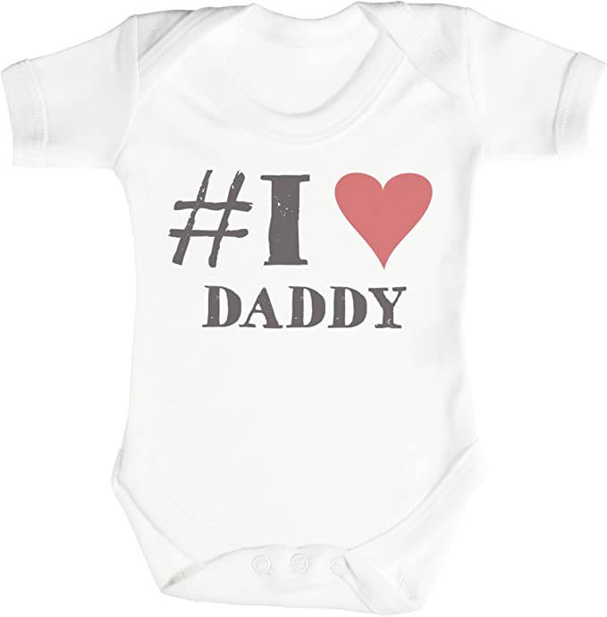 TRS - #I Love Daddy Regalo para bebé, Body para bebé niño, Body para bebé niña 100% Algodón: Amazon.es: Ropa y accesorios