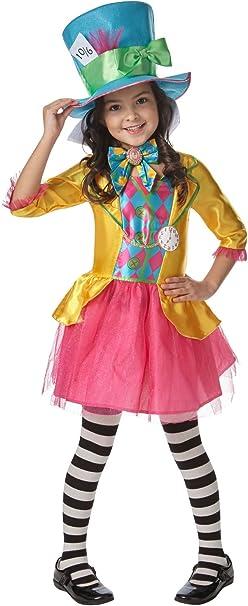 Rubiess – Disfraz de personaje Sombrerero Loco, de Alicia en el país de las maravillas, diseño oficial de Disney, para 5 – 6 años: Amazon.es: Juguetes y juegos