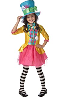 rubies official girls disney alice in wonderland mad hatter costume large 7 8 - Little Miss Sunshine Halloween Costume