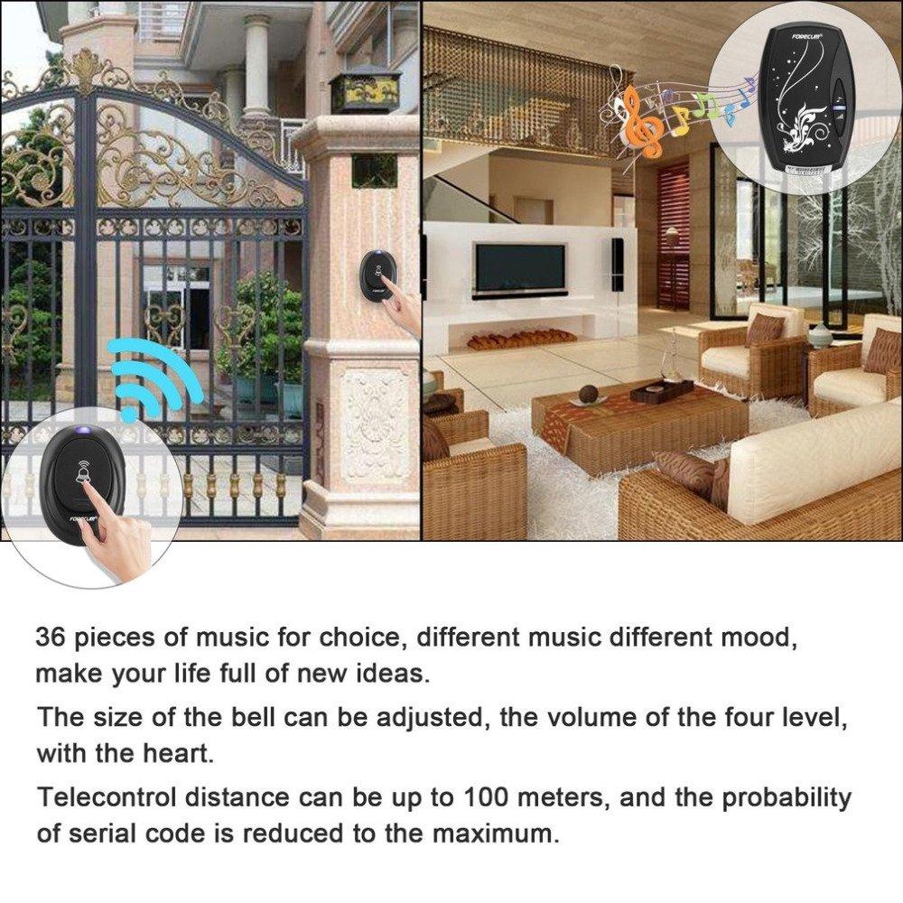 Yoneix OUTAD Door Bell with 36 Chimes Single Receiver Waterproof Plug-in Type Wireless Doorbell Cordless Smart Home Door Bells 1PCS