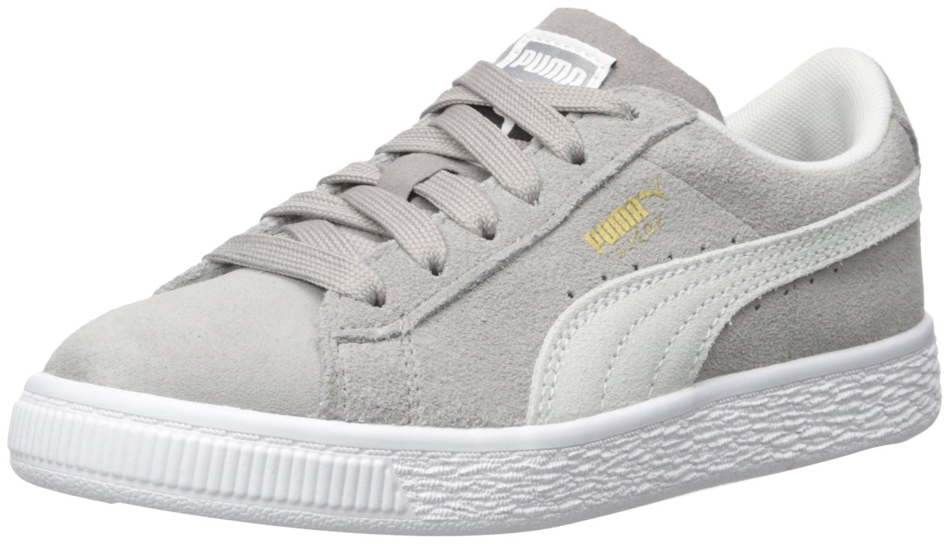 PUMA Baby Suede Classic Kids Sneaker, ash White, 10 M US Toddler